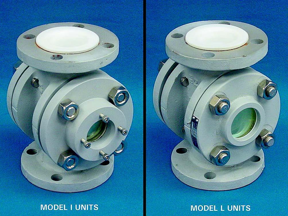 Teflon lined safesite sight flow indicator pressure
